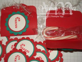 Candy Cane treat holders