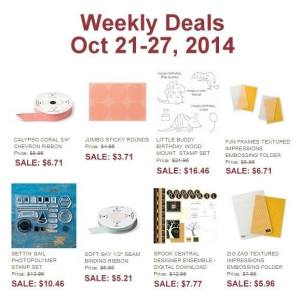 Weekly Deals 10-21to10-27-2014
